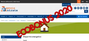 ecobonus 2020 riqualificazione energetica